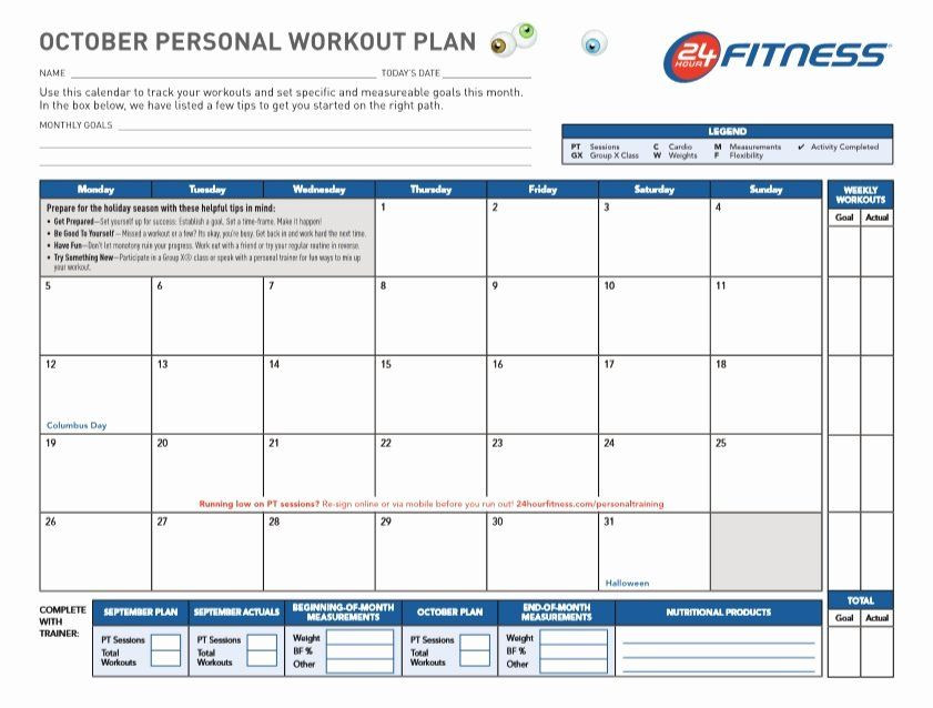 Workout Plan Template Excel Workout Plan Template Excel Fresh Professional Workout