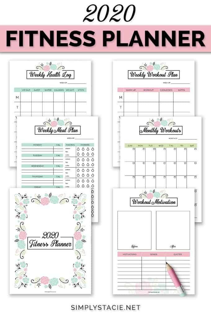 Workout Planner Template 2020 Fitness Planner Free Printable In 2020