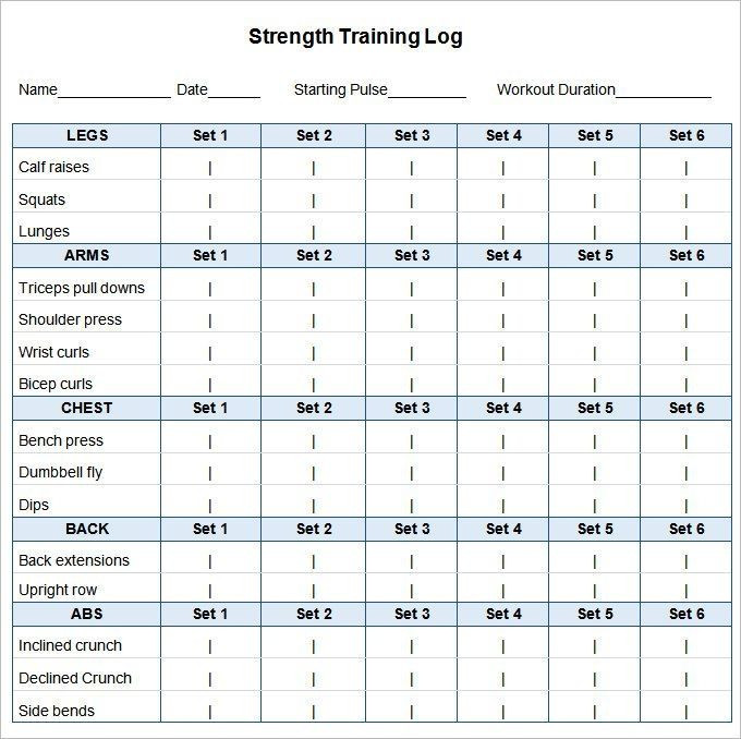 Workout Planner Template 27 Workout Schedule Templates Pdf Doc