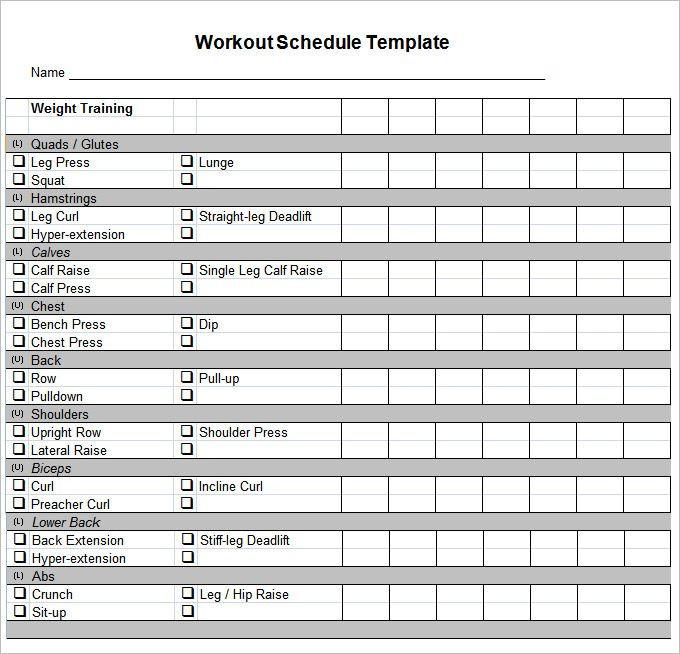 Workout Planner Template Pdf Docs Free & Premium Templates
