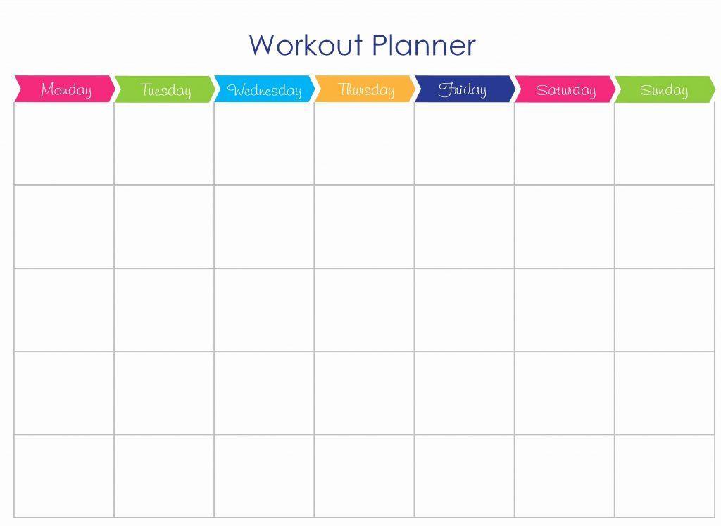 Workout Planner Template Pin On здоровье