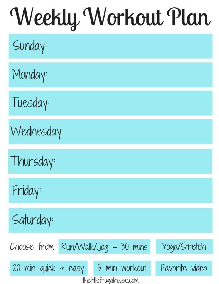 Workout Planner Template Pin On Workout
