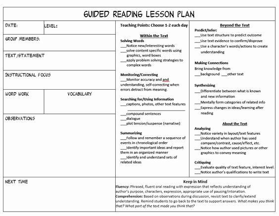 Workshop Lesson Plan Template Readers Workshop Lesson Plan Template Inspirational Stop