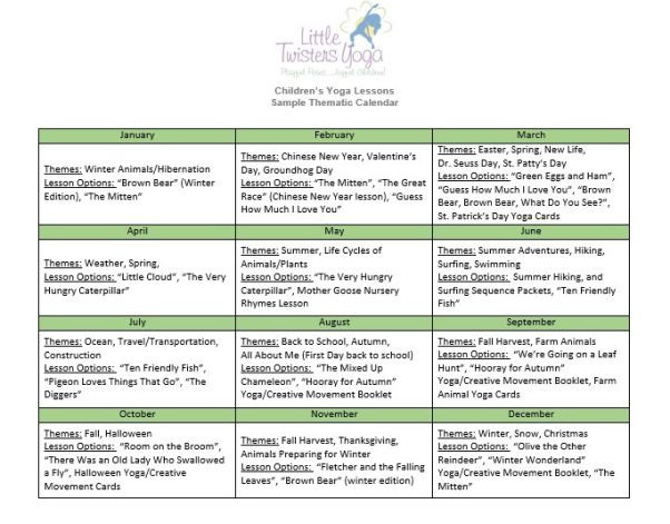 Yoga Class Planning Template for Educators
