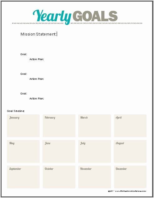 10 Year Life Plan Template 10 Year Life Plan Template Awesome Printable Goal Sheet with