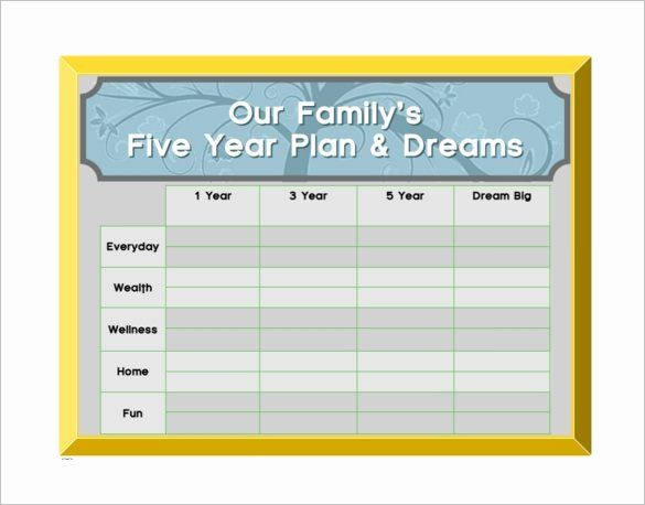10 Year Life Plan Template 5 Year Life Plan Template Unique 10 5 Year Plan Templates