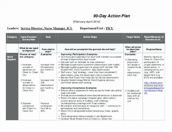 100 Day Plan Template Excel 100 Day Plan Template Excel Awesome X Work Transition Plan