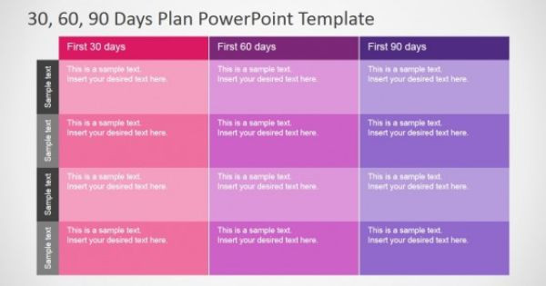 100 Day Plan Template Excel 30 60 90 Days Plan Powerpoint Template Slidemodel