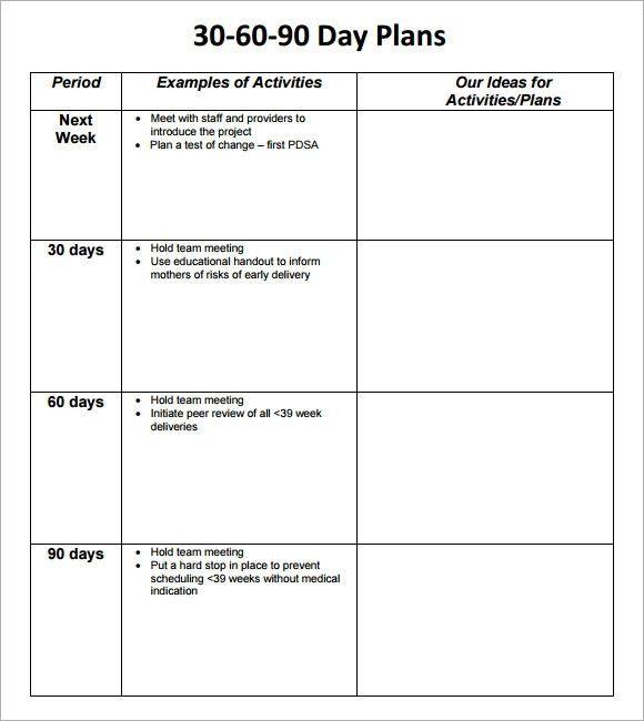 100 Day Plan Template Excel 90 Day Plan Template Excel Unique 30 60 90 Day Plan Template