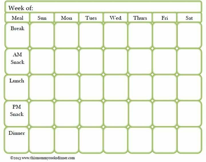 2 Week Meal Planner Template Meal Prep