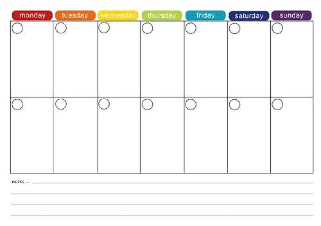 2 Week Meal Planner Template Printable 2 Week Calendar Printable 2 Week Calendar Two Week