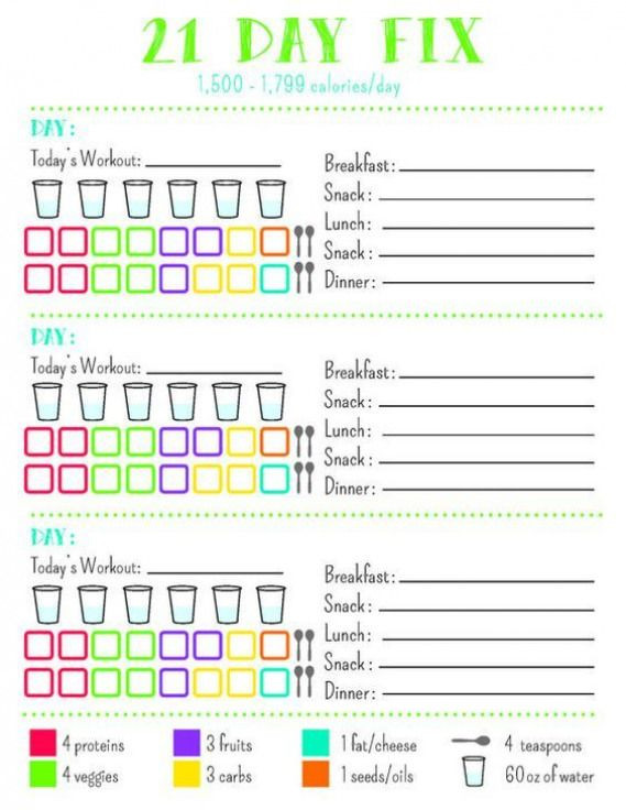 21 Day Meal Plan Template 21 Day Fix Plan B 1500 1799 Looseweight