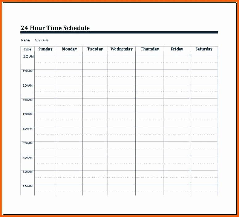 24 Hour Day Planner Template 24 Hour Daily Schedule Template Luxury Daily Weekly Schedule