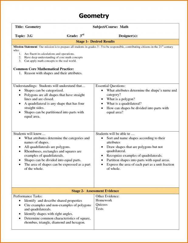 3 Part Lesson Plan Template Ubd Lesson Plan Template Lovely Ubd Lesson Plan Template In