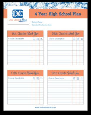4 Year College Plan Template Four Year College Plan Template Fresh Four Year High School
