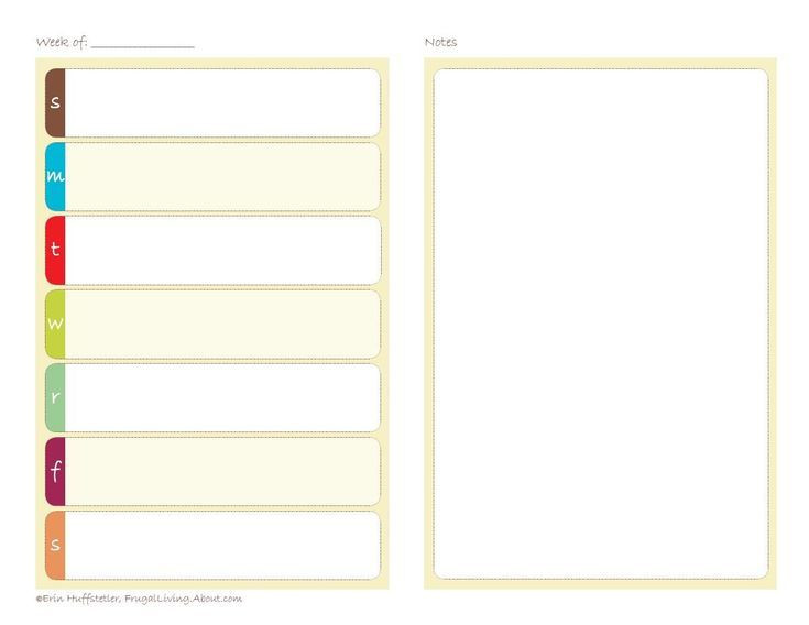 5 5 X 8 5 Planner Template Get organized In Style with these Free Printable Calendars