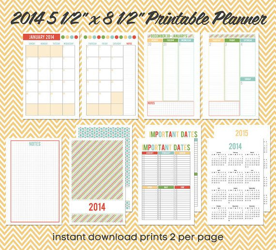 5 5 X 8 5 Planner Template Pin by Crystal A Well Feathered Nes On Printables
