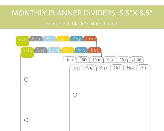 5 5 X 8 5 Planner Template Pin On Printables