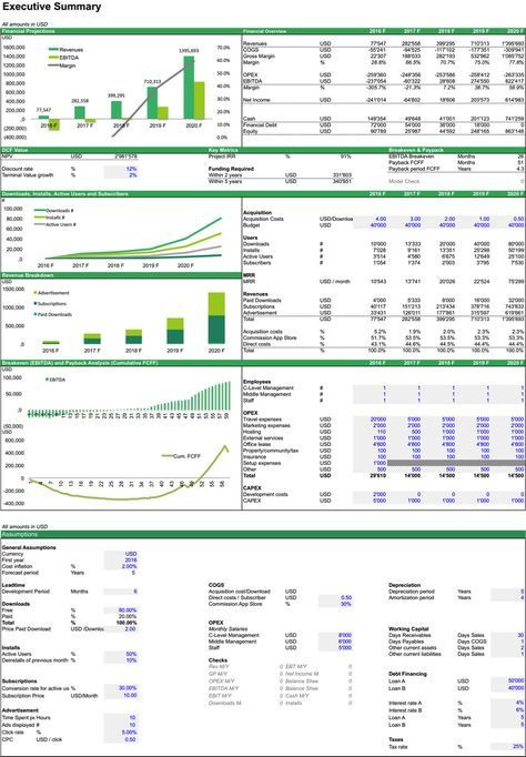 5 Year Financial Plan Template Financial Model for Mobile App Business