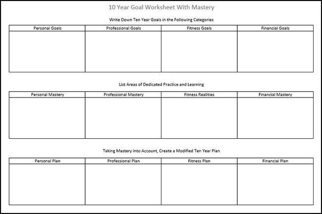 5 Year Goal Plan Template 10 Year Career Plan Template Unique 10 Year Goals Create A