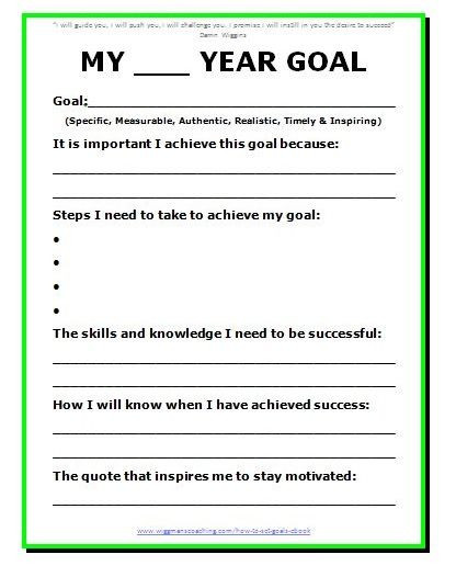 5 Year Goal Plan Template 11 Effective Goal Setting Templates for You