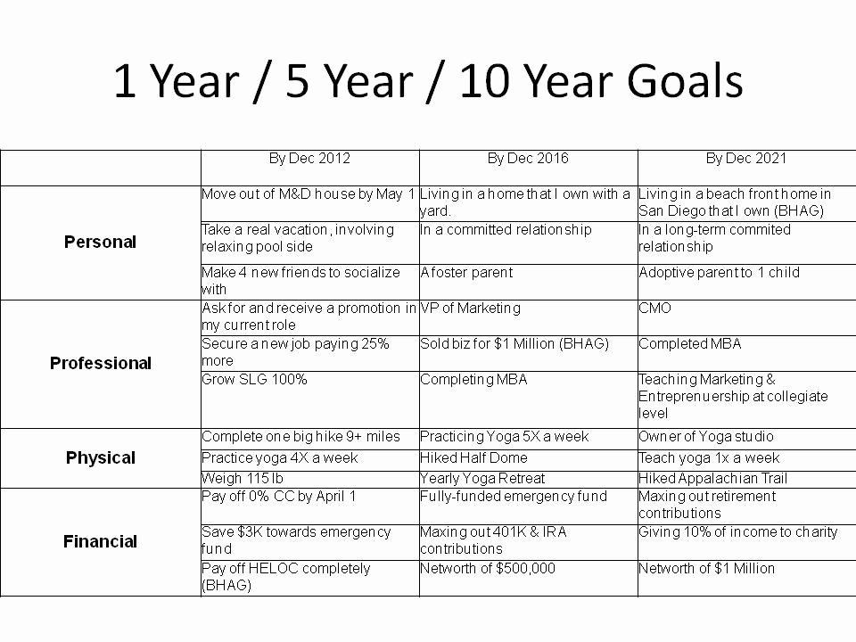 5 Year Goal Plan Template 5 Year Life Plan Template Best 26 5 Year Goal Setting