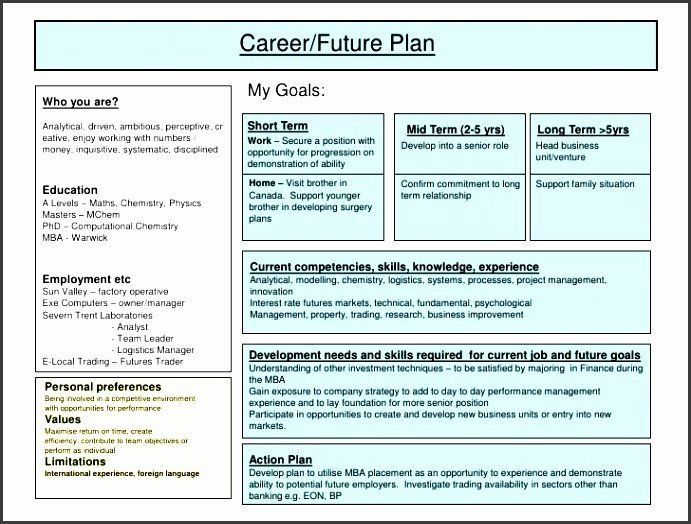 5 Year Goal Plan Template Career Action Plan Template Luxury 5 Job Action Plan