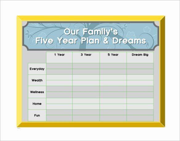 5 Year Life Plan Template 5 Year Life Plan Template Unique 10 5 Year Plan Templates