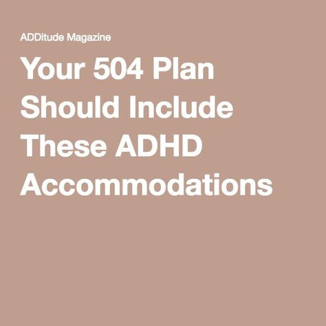 504 Plan Template Adhd 50 504 Plans Iep Ideas