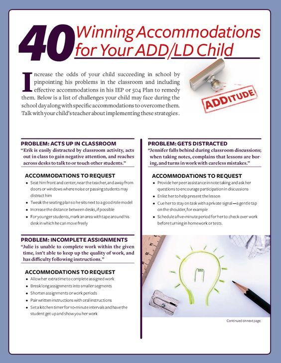 504 Plan Template Adhd Pin On Behavior Learning tools