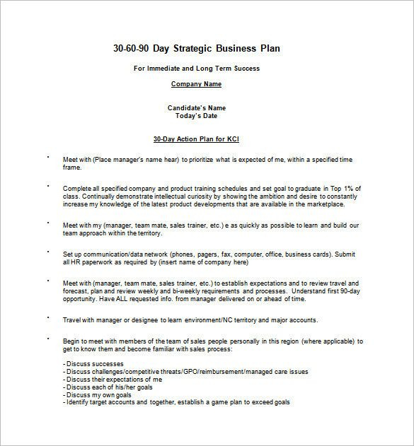 90 Day Game Plan Template 30 Day Business Plan Template Lovely 22 30 60 90 Day Action