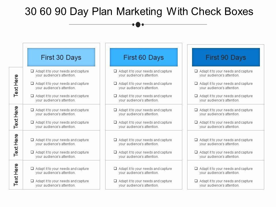90 Day Planner Template 90 Day Boarding Plan Template Inspirational 30 60 90 Day