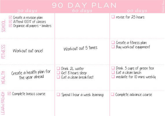 90 Day Planner Template 90 Day Planner Printable 8 5x11 A4 Printable Planner