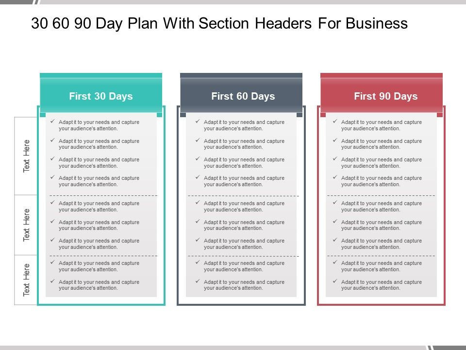 90 Day Planner Template Pin On 30 60 90 Business Plan