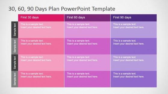 90 Day Work Plan Template 30 60 90 Days Plan Powerpoint Template Slidemodel