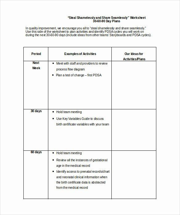 90 Day Work Plan Template 90 Day Action Plan Templates Awesome 28 30 60 90 Day Plan