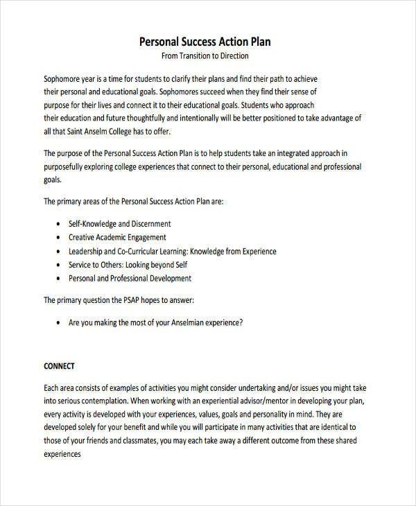 Academic Success Plan Template Pin On Action Plan Template Printable Design