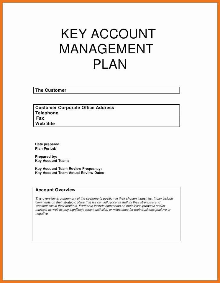 Account Management Plan Template Account Management Plan Template Awesome 5 6 Account