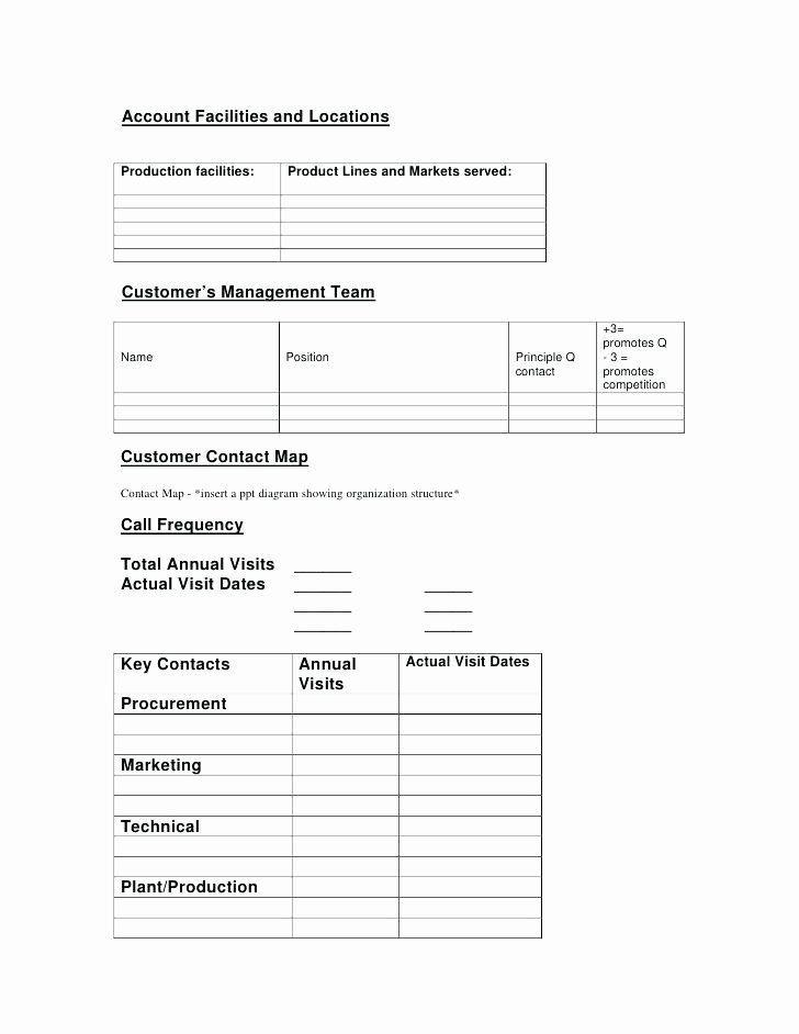Account Management Plan Template Strategic Account Plan Template Luxury Key Account