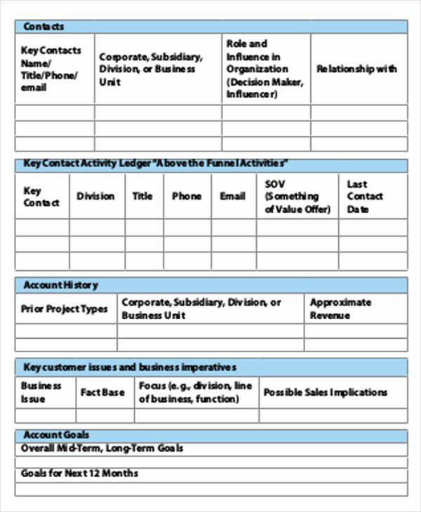 Account Plan Template Ppt Account Plan Template Ppt Inspirational Account Plan