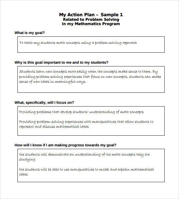 Action Plan Template for Students Action Plan Template for Students Beautiful 8 Sample School