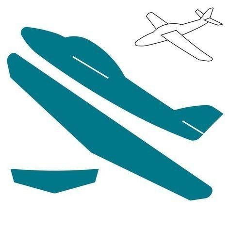Airplane Template to Cut Out Cardboard Airplane Template