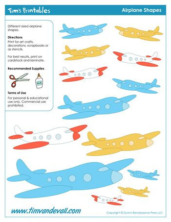 Airplane Template to Cut Out Pin On Transport