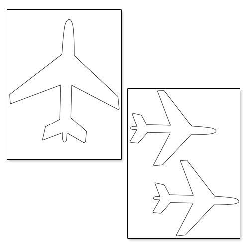 Airplane Template to Cut Out Printable Airplane Shapes