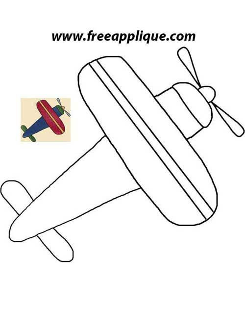 Airplane Template to Cut Out Printable Patterns Airplane Applique