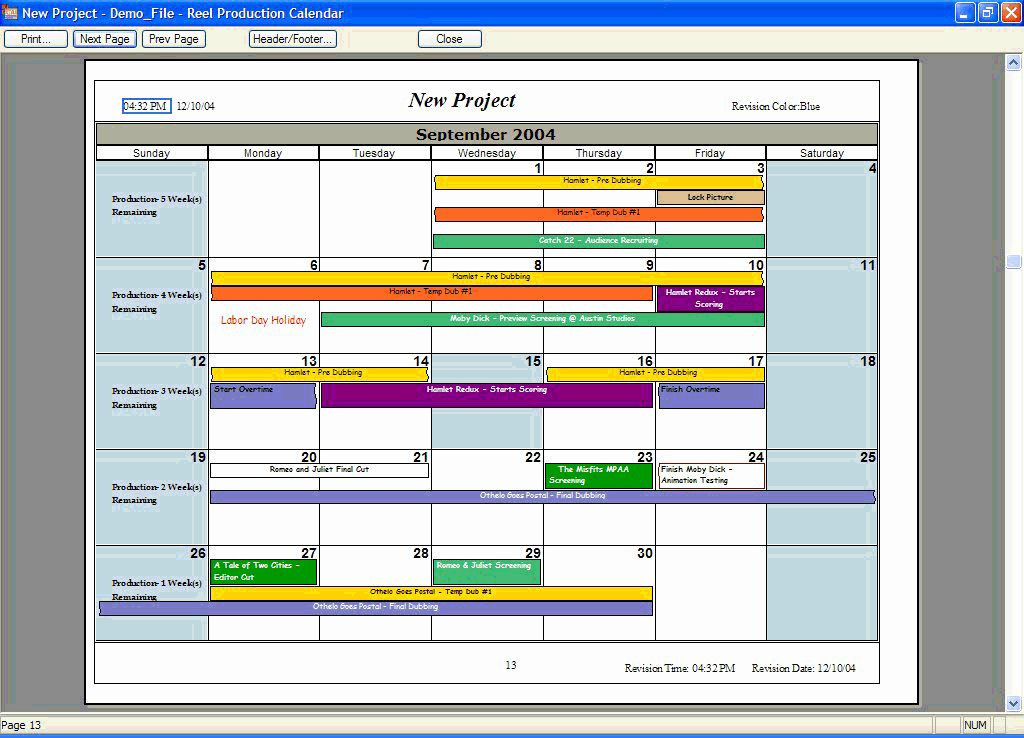 Application Migration Plan Template Schedule Template Lovely Production Calendar Template