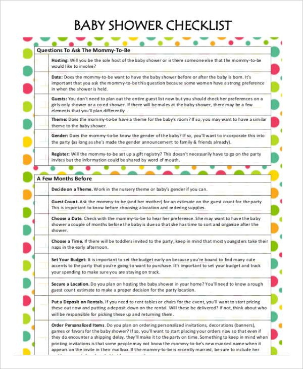 Baby Shower Planner Template Baby Shower Planner Templates