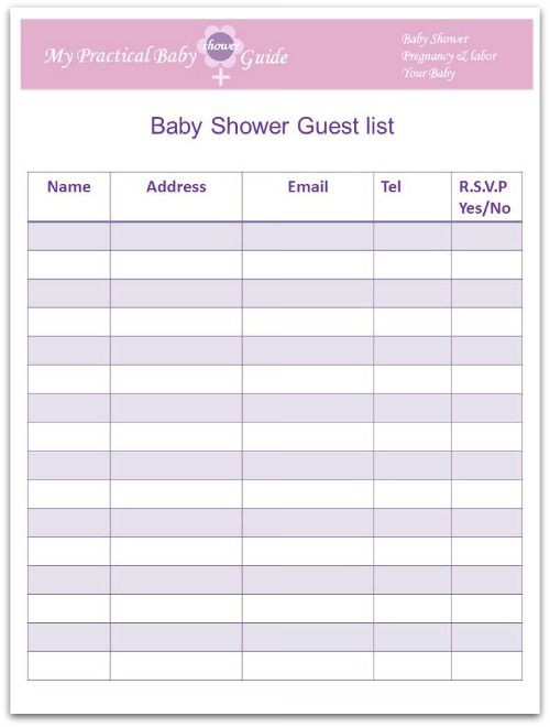 Baby Shower Planner Template How to Plan A Baby Shower My Practical Baby Shower Guide