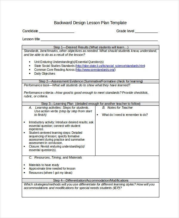 Backward Design Lesson Plan Template Tiered Lesson Plan Template Awesome Differentiated