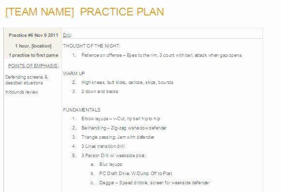 Basketball Practice Plan Template Basketball Practice Plan Template Pdf Lovely Editable
